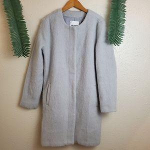 BB Dakota Regan Light grey wool blend coat